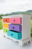 Colorful of accessories cabinet with drawer stock photos