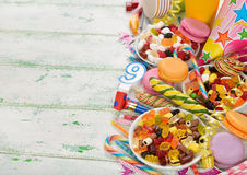 Colorful accessories for children's parties Stock Images