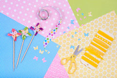 Colorful accessories for craft Royalty Free Stock Photography