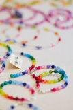 Colorful accessories in a jewelry royalty free stock photo