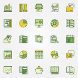 Colorful accounting icons Stock Image