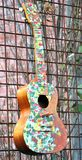 Colorful acoustic guitar abstract. royalty free stock images