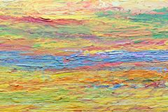 Colorful Acrylic Color on Canvas. Close up colorful acrylic color painted on canvas Royalty Free Stock Image