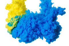 Free Colorful Acrylic Ink In Water Isolated On White. Abstract Background. Color Explosion Stock Photography - 97468462
