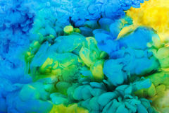 Colorful acrylic ink in water isolated. Abstract background. Color explosion Stock Photography