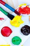 Colorful Acrylic Paints Stock Photo