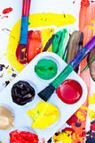 Colorful Acrylic Paints Stock Photos
