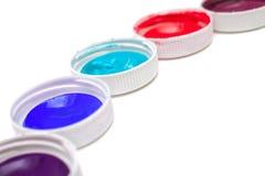 Colorful acrylic paints Stock Image