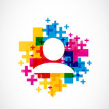 Colorful add a friend concept Royalty Free Stock Image