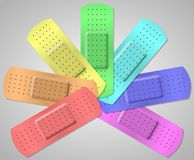 Colorful adhesive bandage Royalty Free Stock Photography