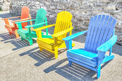 Colorful Adirondack Chairs Stock Images