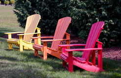 Colorful adirondack chairs Royalty Free Stock Image