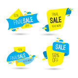 Colorful advertising final sale banner. 50 percent off. Royalty Free Stock Photos