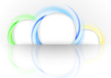 Colorful advertising rings template. Clip-art vector illustration