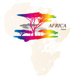 Colorful africa map Stock Images