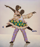 Colorful african ballet dancers Royalty Free Stock Photography
