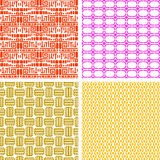 Colorful african ethnic pattern set Royalty Free Stock Photos