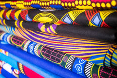Colorful african fabrics Royalty Free Stock Images