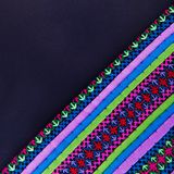 Colorful african peruvian style rug surface close up Royalty Free Stock Photos