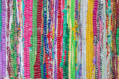 Colorful african peruvian style rug surface close up. More of th Stock Images