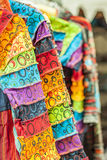 Colorful African style clothes Stock Photo