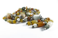 Colorful Agate Necklace Royalty Free Stock Photography