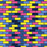 Colorful aged bricks Stock Photo
