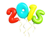 Colorful air ballons 2015. 3D illustration Stock Photo
