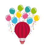 Colorful air balloon Stock Photography
