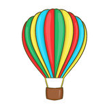 Colorful air balloon icon, cartoon style Stock Images