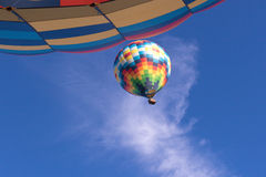 Colorful Air Balloon Seen from Below Stock Photography