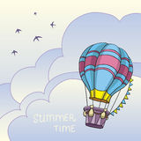 Colorful air balloon in the sky Royalty Free Stock Photos