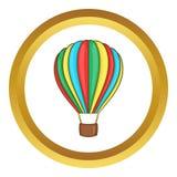 Colorful air balloon vector icon Royalty Free Stock Photos