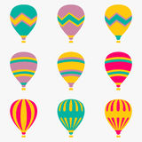 Colorful air balloon on white background. Vector colorful air balloon on white background Stock Photo
