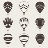 Colorful air balloon on white background Royalty Free Stock Image