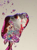 Colorful air bubbles in water Stock Images