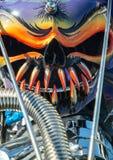 Classic car, bizarre engine art. Colorful air intake, custom classic car Stock Photography