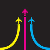 Colorful airplanes  icon Stock Image