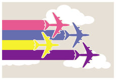 Colorful airplanes Stock Image