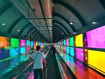 Colorful airport in Madrid Spain royalty free stock image