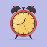 Colorful alarm clock vector illustration. Flat icon style. Royalty Free Stock Image