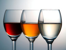 Colorful alcohol Royalty Free Stock Images