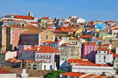 Colorful Alfama. District, Lisbon, Portugal Stock Photography