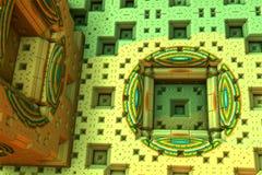 Colorful alien fractal. 3d illustration Stock Photo