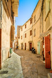 Colorful Alley Way in Tuscany Stock Photography