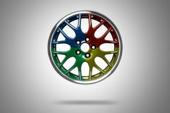 Colorful alloy rim Stock Image