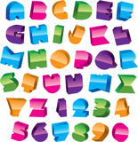 Colorful alphabet. Design. trendy font Royalty Free Stock Photography