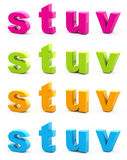 Colorful alphabet. Stock Photo
