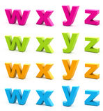 Colorful alphabet. Royalty Free Stock Photography