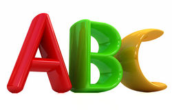 Colorful alphabet Stock Images